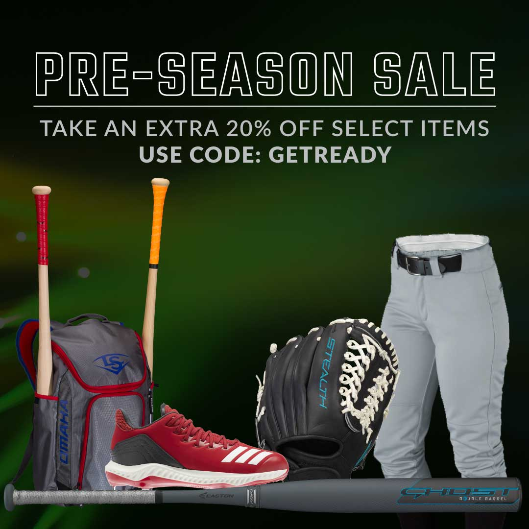 Pre-Season Softball Sale - 20% Off Select Items