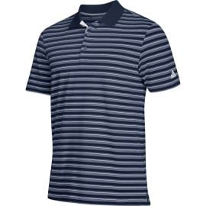 Adidas Mens Ultimate 3 Stripe Polo