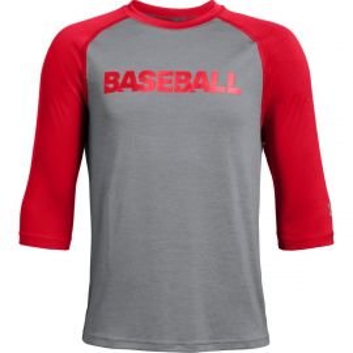 Under Armour Youth Bullpen 3/4 Sleeve Baseball Shirt