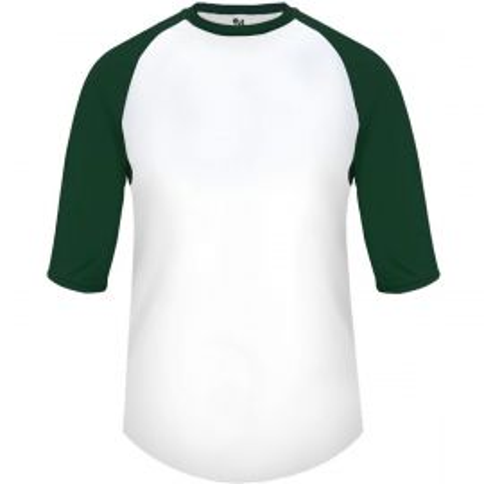 Badger Youth B-Baseball 3/4 Sleeve Shirt