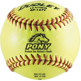 "Dudley 12"" Pony League Leather Fastpitch Softball"