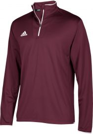 Adidas Men's Team Iconic Knit Long Sleeve 1/4 Zip