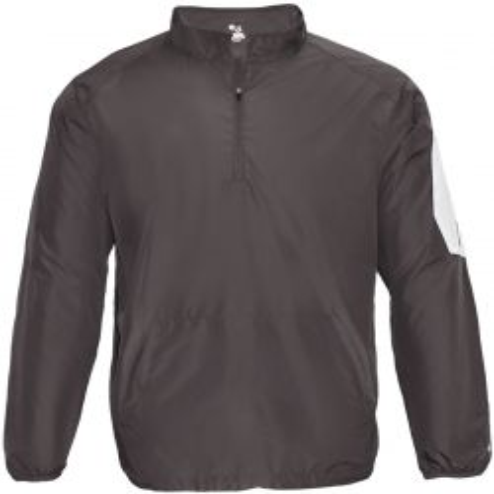 Badger Men's Sideline Long Sleeve 1/4 Zip Pullover