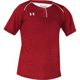 Under Armour Next 2-Button Youth Girls Softball Jersey