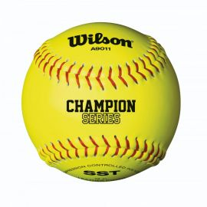"Wilson 12"" NFHS Yellow Fastpitch Softball (Dozen)"