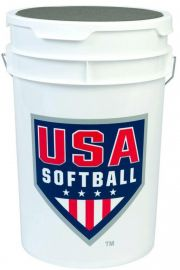 Bownet USA Softball Empty Bucket with Padded Lid