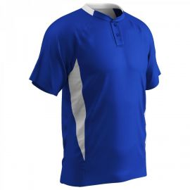 Champro Adult Clean-Up Two-Button Baseball Jersey