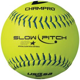 "CHAMPRO USSSA SLOWPITCH .44 SYNTH 12"" SOFTBALL 20F"
